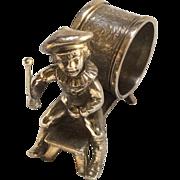 Figural Napkin Ring, Drummer Boy