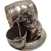 Antique: Silver: Silver Plated:: Figural Napkin Ring