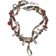 101 Dalmatians- Red Coral,African Skunk Beads