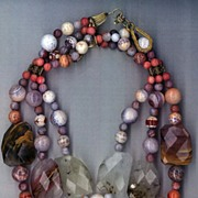 Phantom Quartz & Mexican Fire Agate (Beehive pattern) : Autumn Mystery