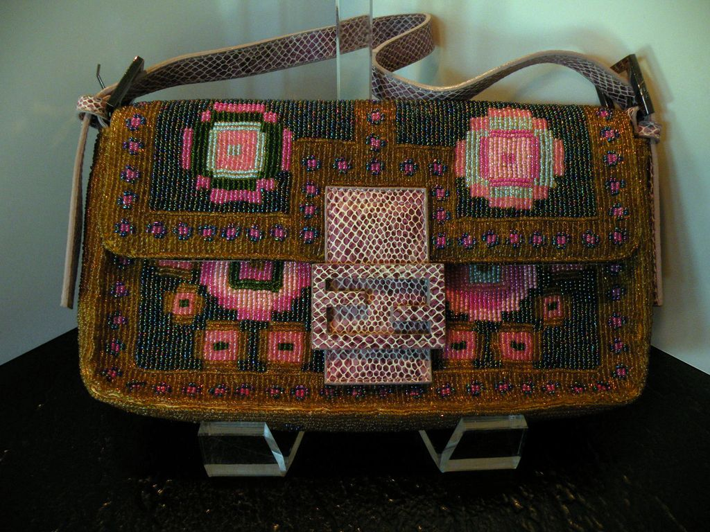 Authentic Fendi Beaded Baguette Bag/Purse