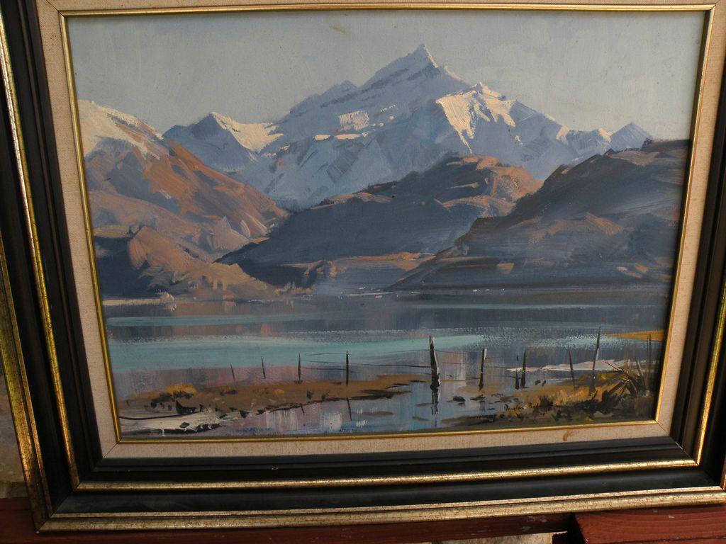 New Zealand Artist Douglas Badcock- Glendhu Bay on Lake Wanaka