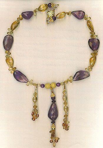 Ametrine Beads Citrine & Mandarin Garnets Beads : Ametrina