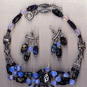 Labradorite & moonstone beads : Blue Bayou