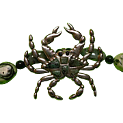 Fossil coral, Sakota (sugar-cane)  Emeralds : Crabby Coral