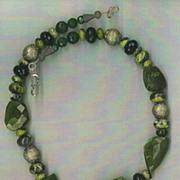 Hawaiian Volcano Vacoanite beads Turquoise  :  Volcanic Treasure I