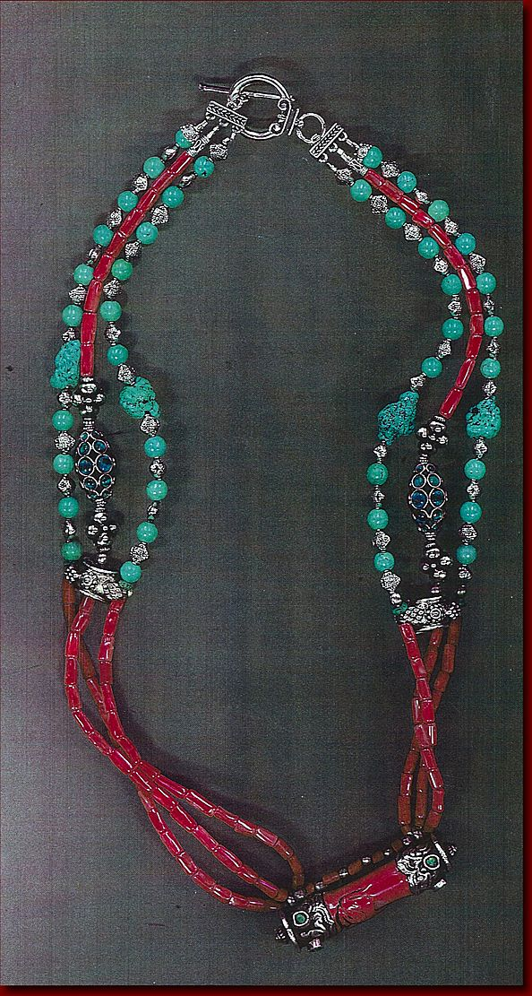 (Sold) Tibetan Coral Turquoise Kasmiri beads : Call of the Wild