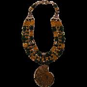 Ammonite Pyrite ( Fool's Gold ) Citrine Emerald beads : Fools Gold