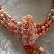 Heavenly Angels (Angel-skin Coral & Cultured Pearls)