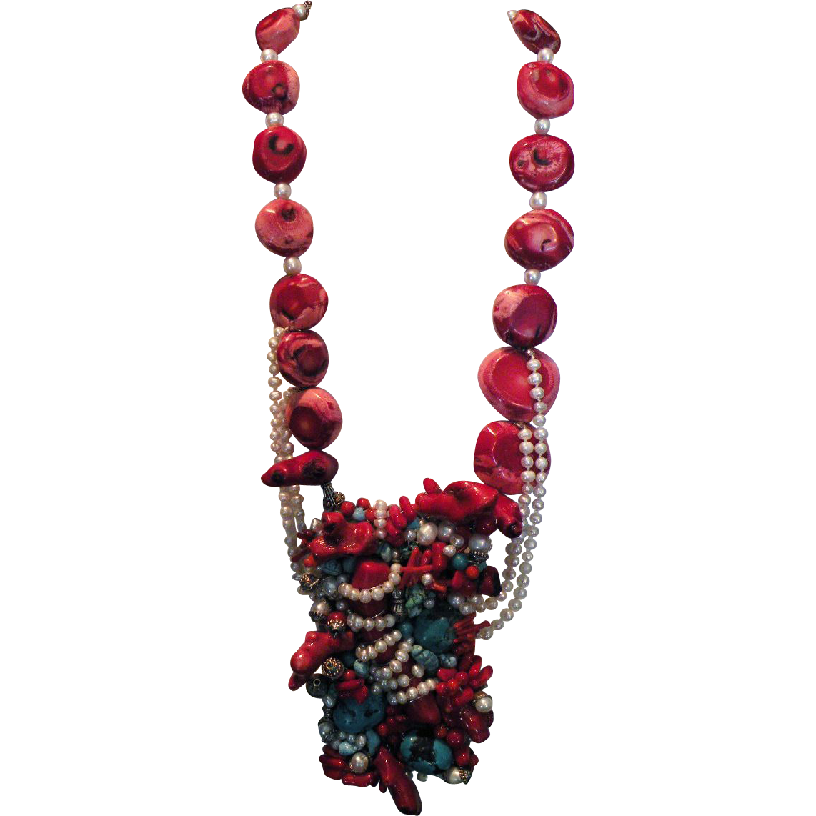 Red Coral & Pearls : Princess Hiawatha