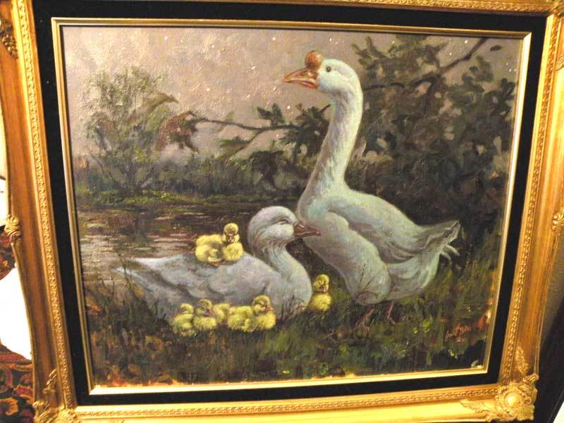 Original Oil Canvas By Lowell Davis 1987 The Reckless