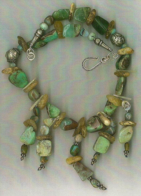 Peruvian Opals Amber beads Yemeni Silver beads: Mountain Jewels