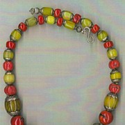 Tibetan beads Yellow Amber Red Coral: Mighty Mogul (Mughal)