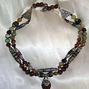 Tibetan Bees-wax Amber beads Carnelian TQ Conch shell : Melon Power