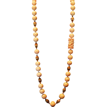 (Sale!) Museum Quality Enormous 15mm (+) Angel Skin Coral 30 inch Opera Length Vintage Necklace