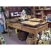 Antique Harvest Table - American Eastern White Pine – Wonderful and Rare