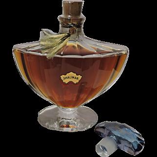 Vintage XL Guerlain Shalimar 4.2 oz. Perfume in Baccarat Crystal Bottle