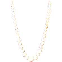 """Angel Skin Coral 17"""" Necklace 5.98 mm to 13.27  mm 14 Kt Clasp 33 grams"""