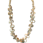 """Twin Double Coin White Pearl 20"""" Necklace"""