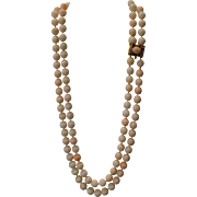 Huge Beautiful White Angel Skin Coral Double Strand Necklace, 10.5 mm – 11.31 mm (201 grams)