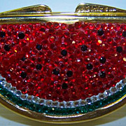 Judith Leiber Watermelon Swarovski Crystal Trinket/Pill Box