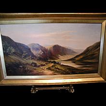 Patrick Vincent Duffy, Glendalough Ireland Oil on Canvas, Masterpiece Magnificent Painting