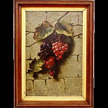 Samuel Marsden Brookes - Original Oil on Panel, Grapes (18 in x 12 in)