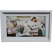 """Susan Rios original acrylic (oil) painting on canvas, titled """"Private Thoughts"""", 1990"""