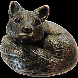 "Gianmarie Buccellati (1929-2015) Silver Fox ""Furry Animal Series"" Figure, Italian Sterling Silver"