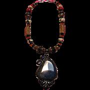 Tibetan Lapis Pendant Lapis beads : Orient Express