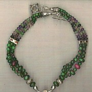 Ruby Zoisite & Red Garnet beads Fluorite beads  : Ruby Beauty
