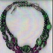 Ruby Zoisoite beads : Ruby Beauty II