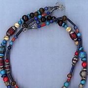 Royal Blue Lapis beads Coral & Carnelian : Princess Lapis