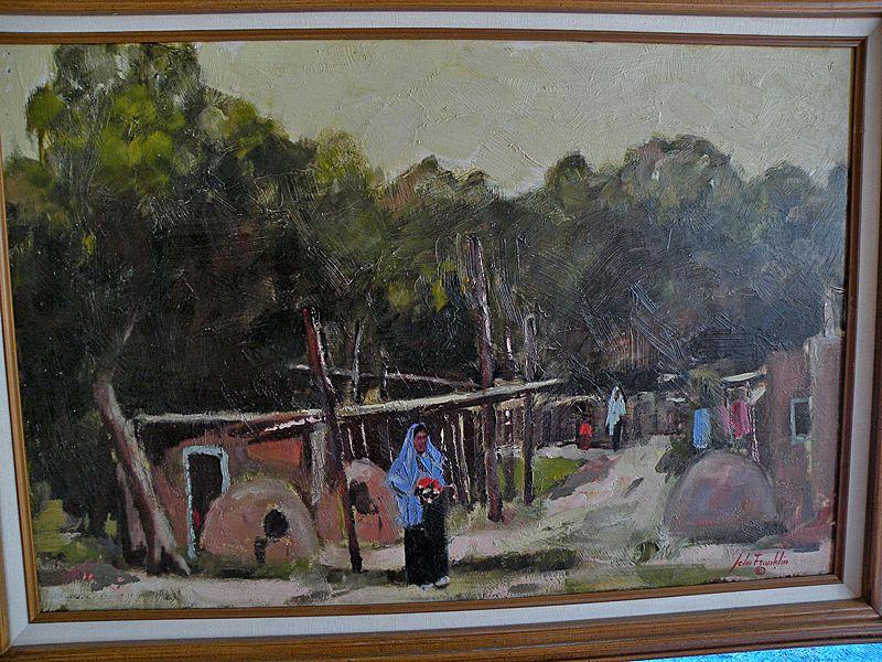 "John Franklin oo/b N. M. Artist ""Strange Light In Taos"""