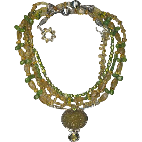 Peridot & Citrine beads : So Sumptuous