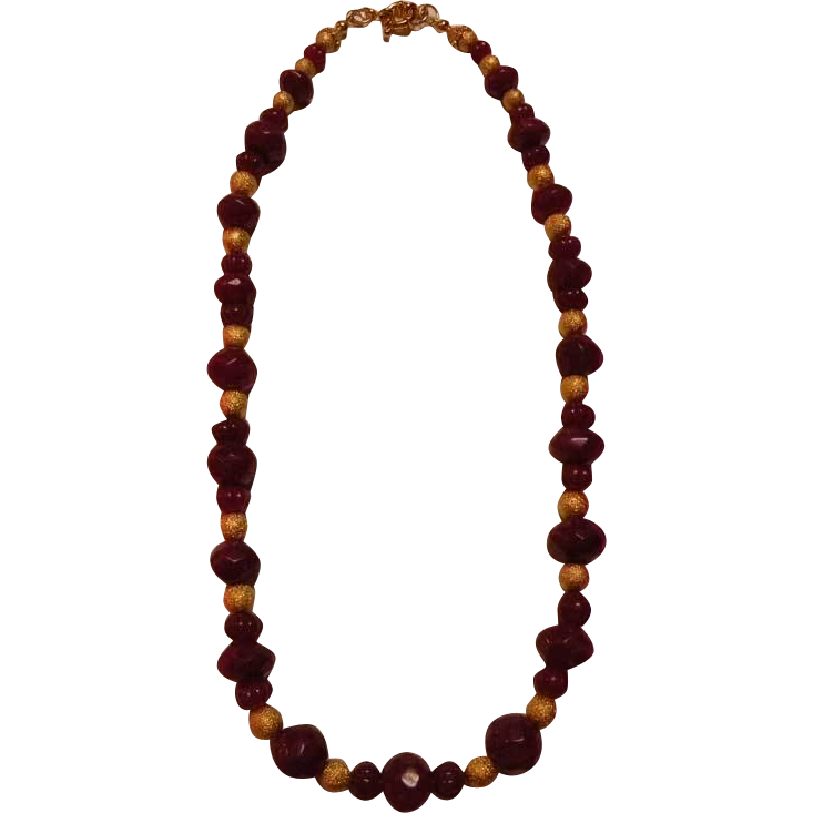 Genuine Ruby beads : So Well Red