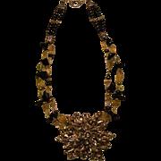 Tektite Meteorite & Citrine beads : Twinkle Twinkle Little Star