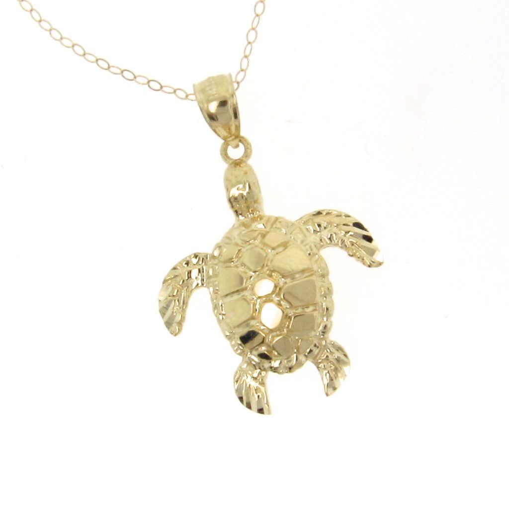 14k solid gold turtle necklace as seen on jules courtney cox of 14k solid gold turtle necklace as seen on jules courtney cox of sold ruby lane aloadofball Image collections