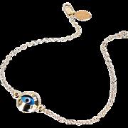 Lucky Evil Eye Bracelet - Gold Filled, Celebrity Style Jewelry