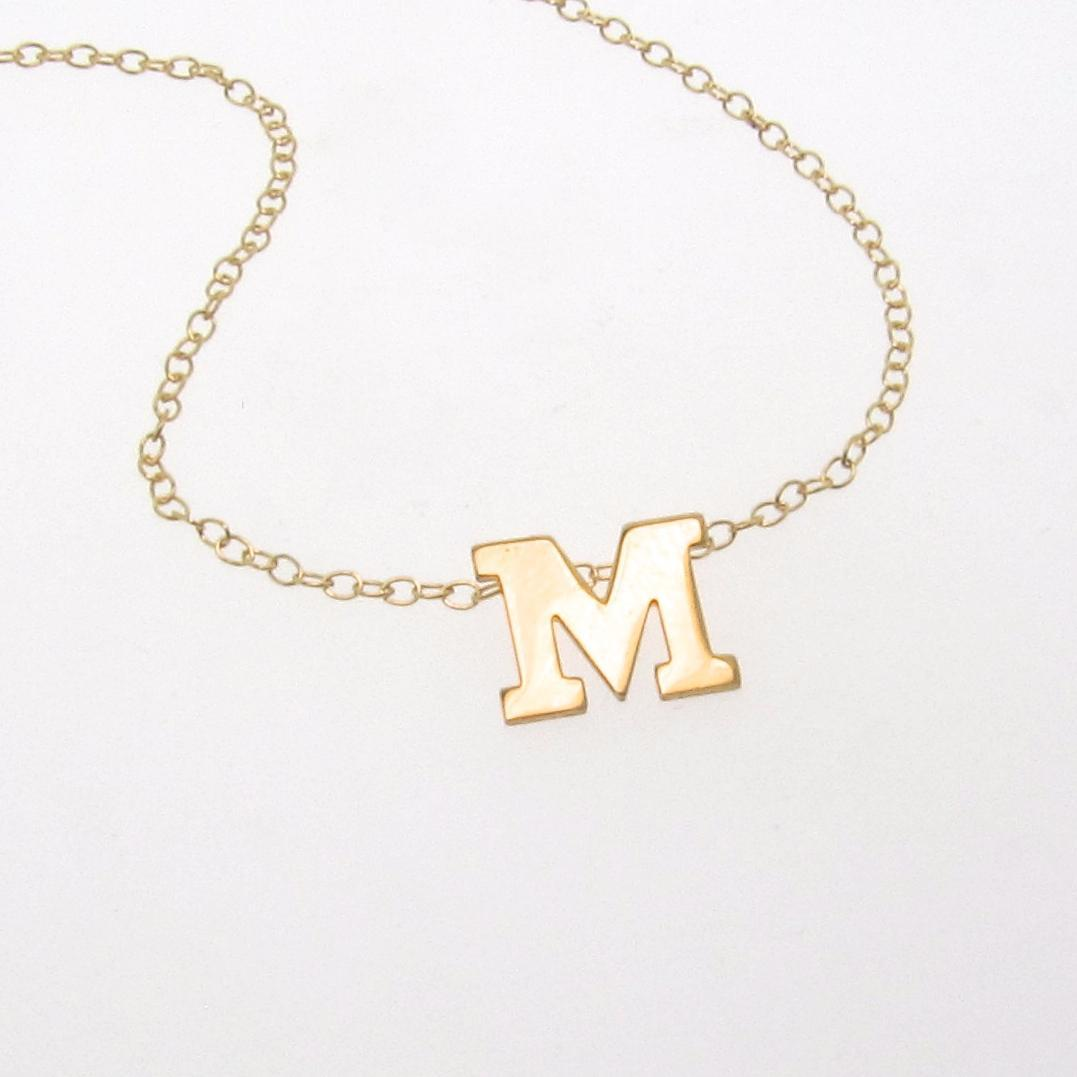 Your Initial Necklace - 14K SOLID GOLD Initial, Ultra Feminine Initial Monogram