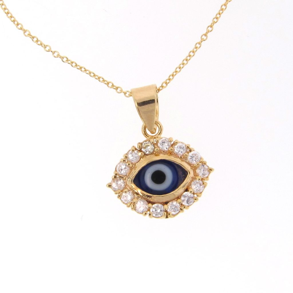 Gold Filled Lucky Evil Eye Necklace With Cz S Cubic