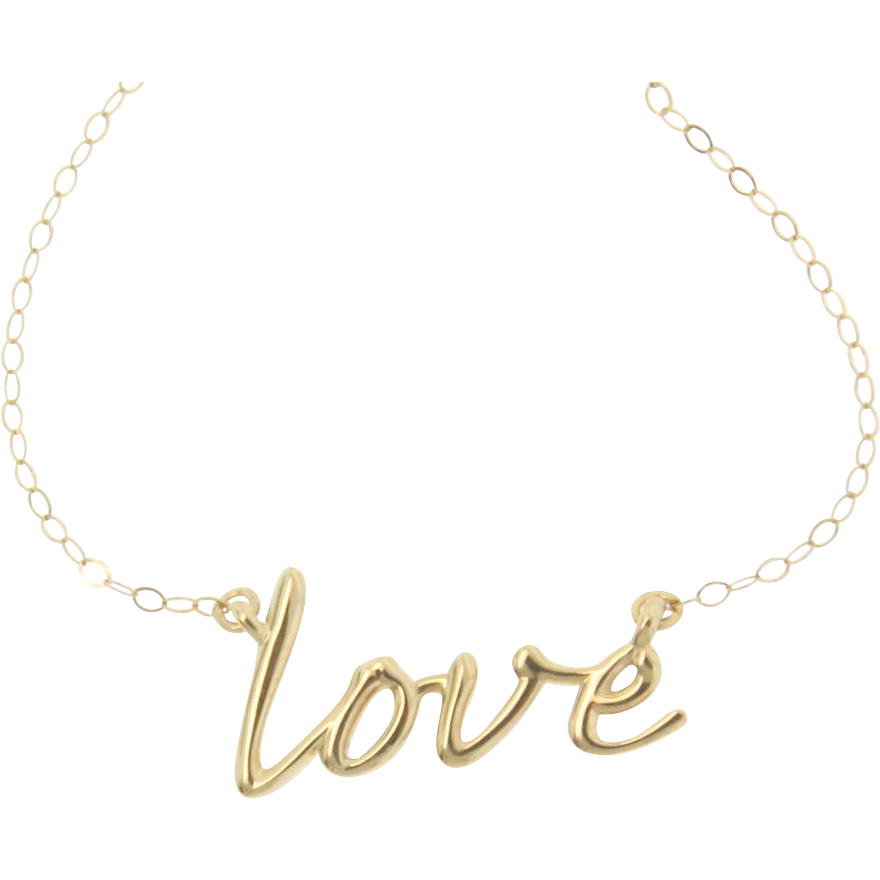 14k gold necklace simple and from