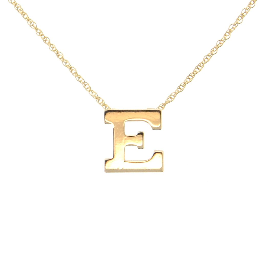 Initial Necklace - Personalized 14K SOLID GOLD Ultra Feminine Initial Monogram Necklace