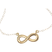 14k Gold Reese Witherspoon Infinity Necklace - Everlasting Love