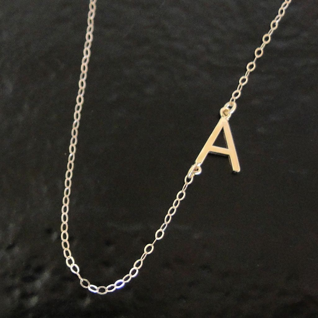 asymmetrical necklace double designs products da letter initial lemel