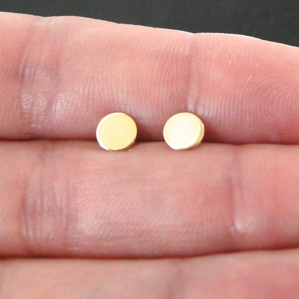 and earring earrings products tiny strand stone stud circle gold open solid
