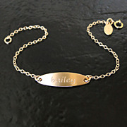 Engraved ID Bracelet, Nameplate Bracelet Includes Personalized Engraving, Great For All Ages
