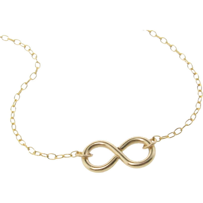 Infinity Necklace - Reese Witherspoon Necklace in 14/20 Gold Filled - Everlasting, Never Ending Love Love