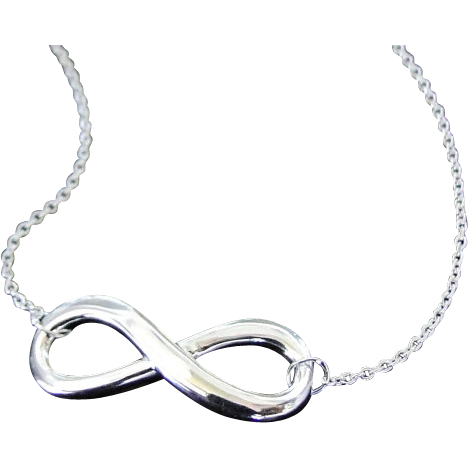 Infinity Necklace in Sterling Silver - Everlasting Love - Reese Witherspoon Necklace