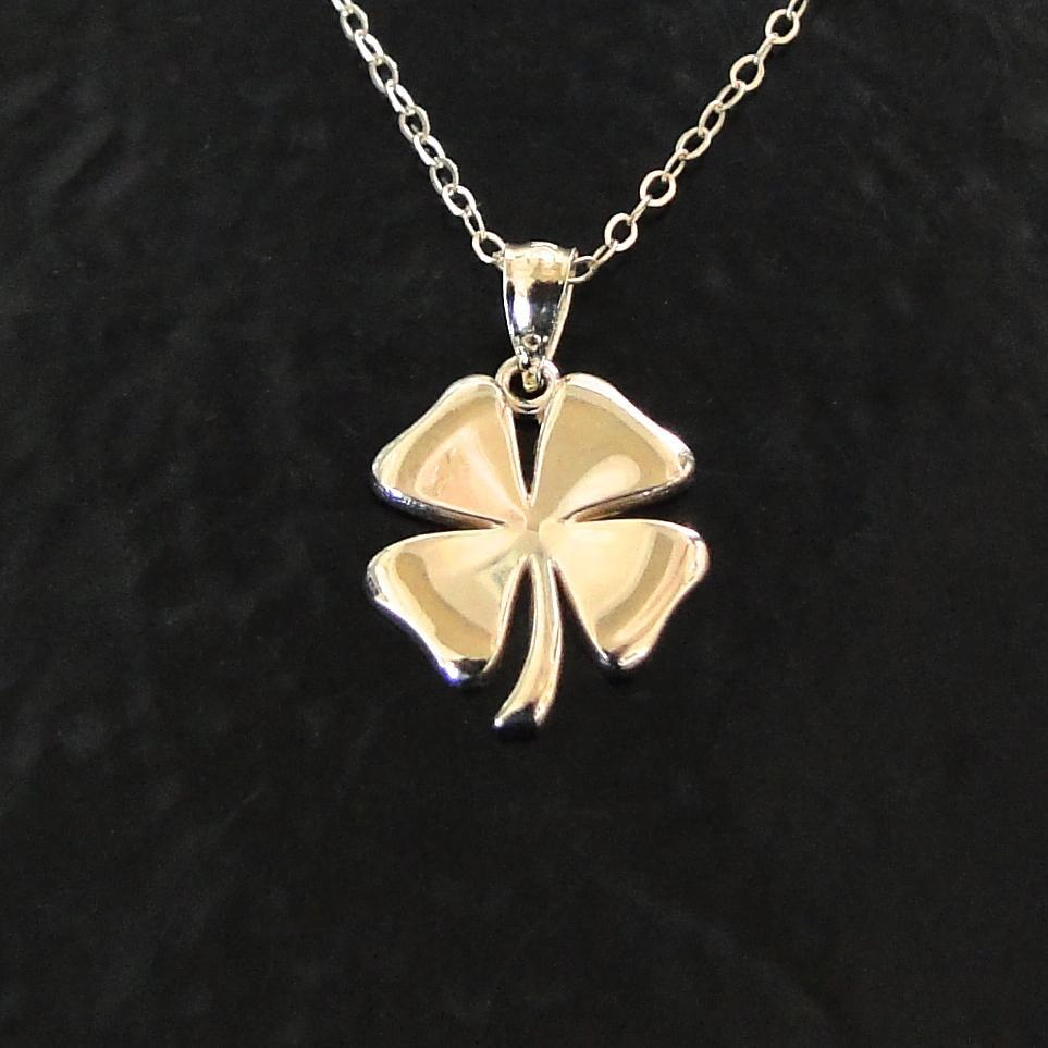 gold four leaf clover necklace 14k solid gold lucky charm sarah